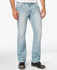 Inc International Concepts Men's Hoskin Modern Boot Fit Light Wash Jeans Only At Macy's