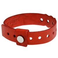 Cast Of Vices Leather Concert Bracelet Red