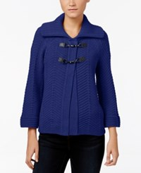 Jm Collection Toggle Cardigan Only At Macy's Bright Sapphire