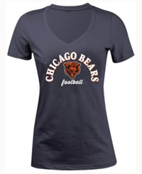 5Th And Ocean Women's Chicago Bears Checkdown Le T Shirt Navy