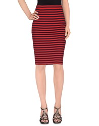 Les Copains Skirts Knee Length Skirts Women Red