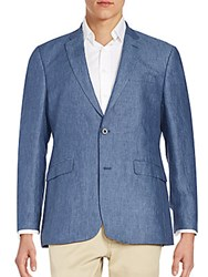 Tommy Hilfiger Regular Fit Linen Blazer Blue