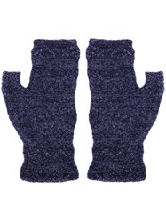 Lainey Keogh Fingerless Gloves Blue