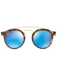 Ray Ban Round Tortoiseshell Sunglasses Brown
