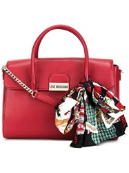 Love Moschino Double Handles Medium Tote Red
