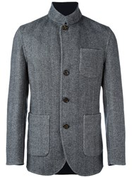 Brunello Cucinelli Buttoned Jacket Blue