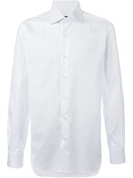 Barba Classic Collar Shirt White