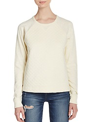 Rag And Bone Quilted Crew Sweater Almond