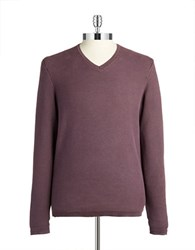 Black Brown Textured Knit Pullover Sweater Pinot Noir