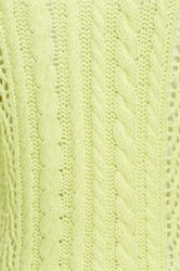 Equipment Amber Cable Knit Cashmere Blend Sweater Yellow