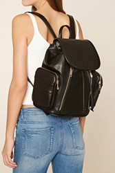 Forever 21 Faux Leather Zipper Backpack