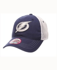 Zephyr Women's Tampa Bay Lightning Glimmer Snapback Cap Black Royalblue