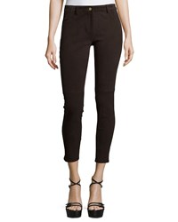 Michael Kors Mid Rise Suede Cropped Leggings Chocolate Women's