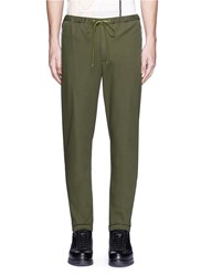 3.1 Phillip Lim Twill Jogging Pants Green