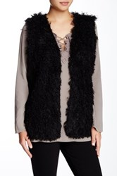 Max Studio Faux Fur Vest Black