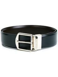 Canali Reversible Belt Blue