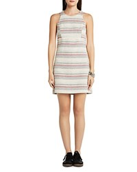 Bcbgeneration Striped Tweed Shift Dress Sand Combo