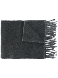 Polo Ralph Lauren Fringed Knit Scarf Grey