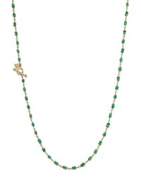 Temple St. Clair 18K Gold Karina Necklace With Emerald Green Gold