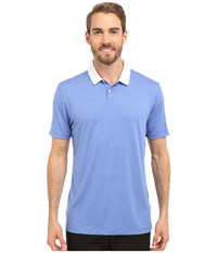 Nike Icon Heather Polo Light Game Royal Heather White Men's Short Sleeve Pullover Blue
