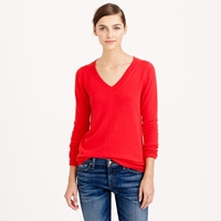 J.Crew Collection Cashmere V Neck Sweater