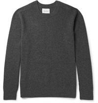 Steven Alan Melange Wool And Cashmere Blend Sweater Gray