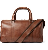 Maison Martin Margiela Distressed Leather Holdall Brown