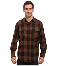 Pendleton L S Guide Shirt Rust Black Check Men's Long Sleeve Button Up