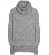 The Row Cecilia Cashmere And Silk Blend Turtleneck Sweater Grey