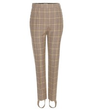 Balenciaga Virgin Wool Houndstooth Stirrup Trousers Multicoloured