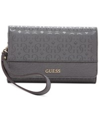 Guess Janette Phone Organizer Wallet Grey