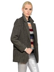 Etoile Isabel Marant Oversized Wool Herringbone Jacket