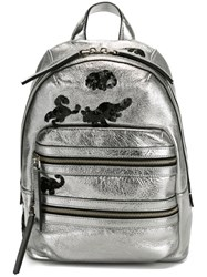 Marc Jacobs 'Gotham' Flocked Animals Backpack Metallic
