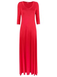 Lygia And Nanny V Neck Long Evening Dress Red