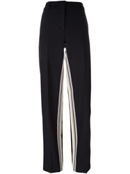Cedric Charlier Inner Stripe Straight Trousers Blue