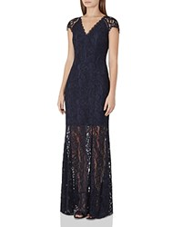 Reiss Haelo Lace Gown Night Navy