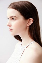 Urban Outfitters Geo Front Back Earring Gold Moon