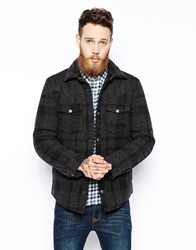 Levi's Levis Wool Overshirt Jacket Subtle Check Heavy Lined Black