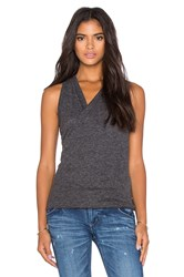 David Lerner Twisted Jersey Tunic Charcoal