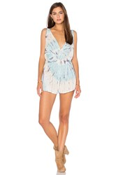Blue Life Double Tie Romper Blue