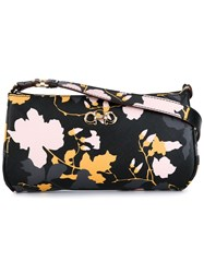 Salvatore Ferragamo Floral Print Shoulder Bag Black