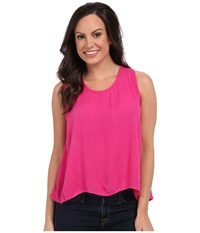 Rock And Roll Cowgirl Sleeveless Top B5 7320 Hot Pink Women's Sleeveless