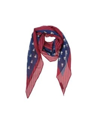 Marc By Marc Jacobs Oblong Scarves Dark Blue