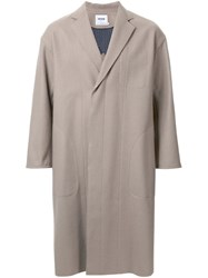 Factotum Oversized Single Breasted Coat Brown