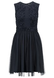 Lace And Beads Agatha Cocktail Dress Party Dress Navy Dark Blue