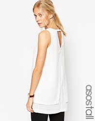 Asos Tall Origami Open Back Tunic Ivory