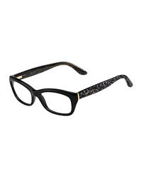 Jimmy Choo Animal Temple Optical Frame. Black Gray