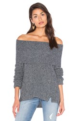 White Warren Three Way Funnel Neck Sweater Gray