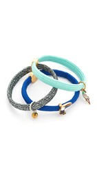 Marc Jacobs Parrot Cluster Hair Ties Blue Multi