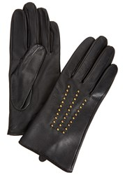 Dents Marie Studded Leather Gloves Black